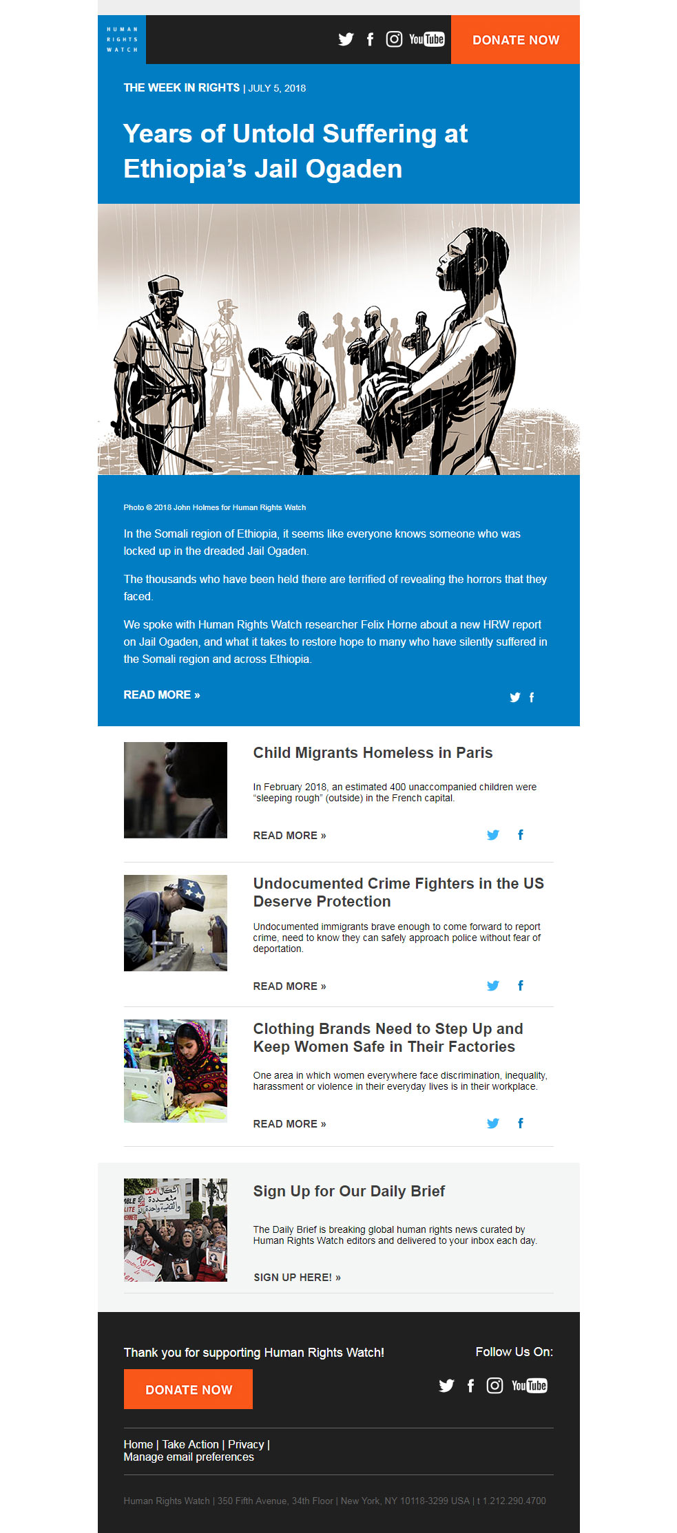 Charity Email - HRW