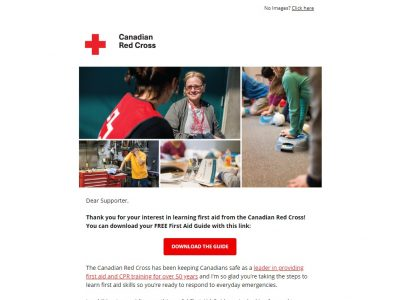 Charity Email - Canadian Red Cross