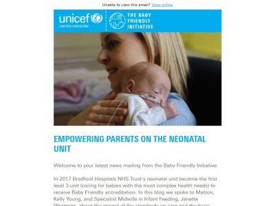 Charity Email - Unicef