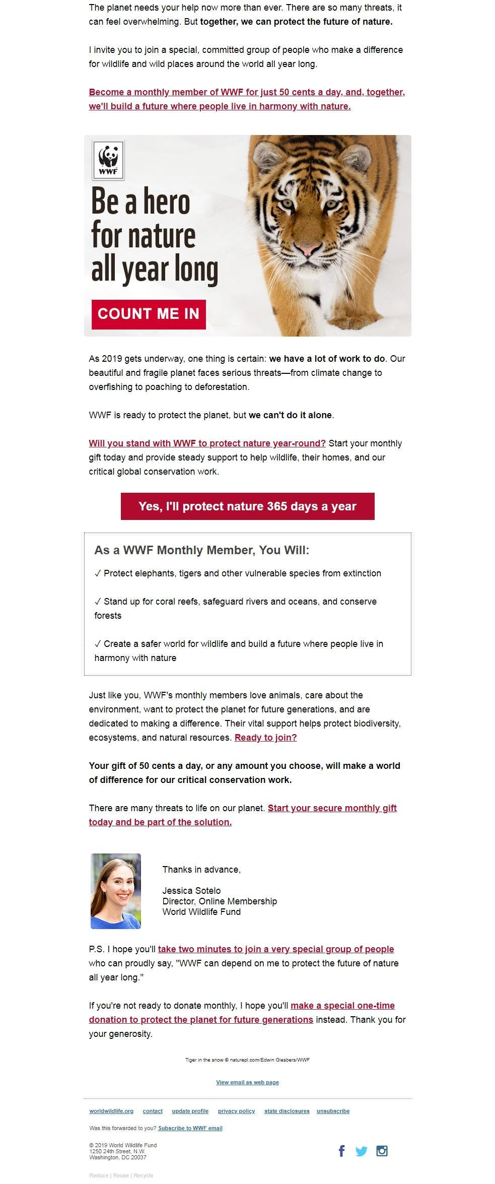 Charity Email - WWF
