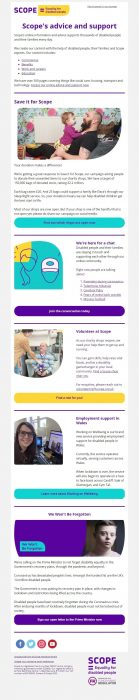 Scope Charity Email Marketing