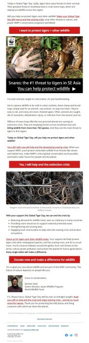 WWF - Charity Email Marketing